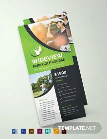 Free Golf Resort Rack Card Template