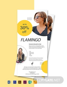 Free Fashion Boutique Rack Card Template