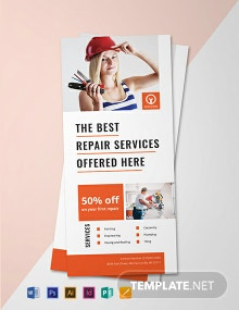 Free Handyman Services Rack Card Template
