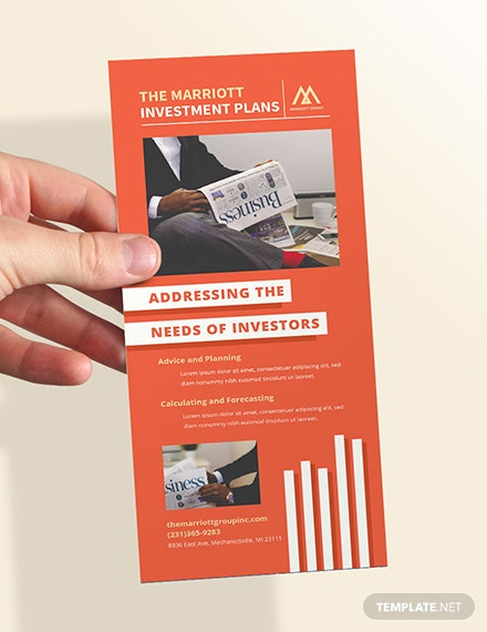 Free Investment Advisor Rack Card Template