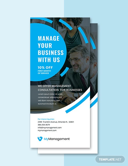 Free Management Consulting Rack Card Template