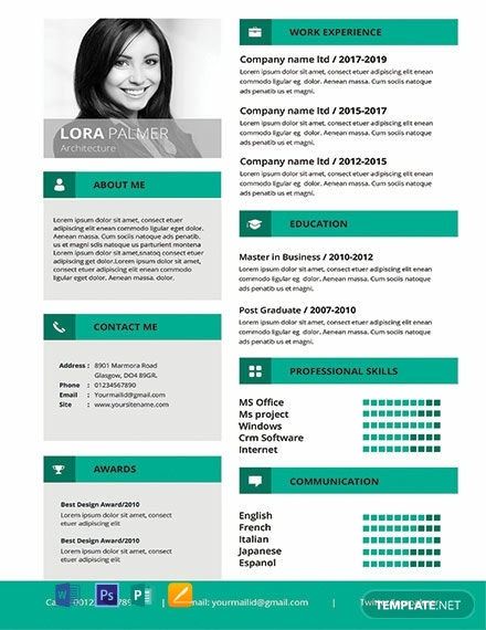 free editable architecture resume template