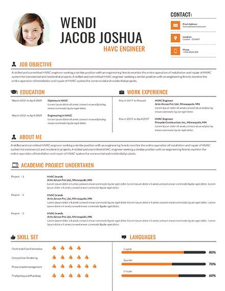 Professional HVAC Engineer CV