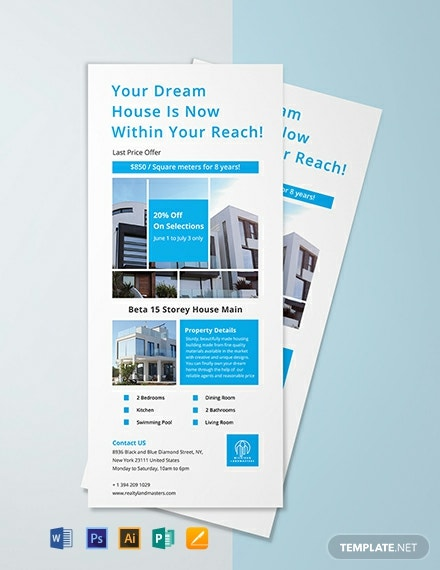 Modern Real Estate Rack Card Template