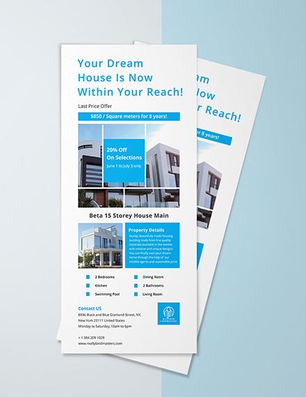 Free Modern Real Estate Rack Card Template