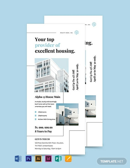 Free Apartment Rack Card Template