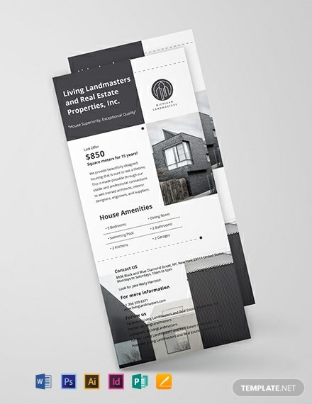 Free Simple Real Estate Rack Card Template