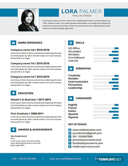 Free Professional Art Director Resume