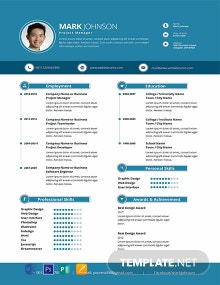 Modern Project Manager Resume Template