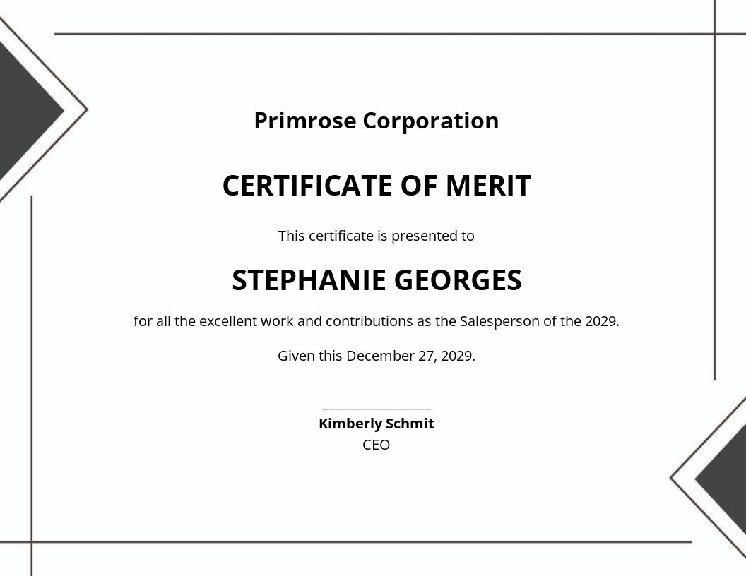 Simple Certificate of Merit Template.jpe