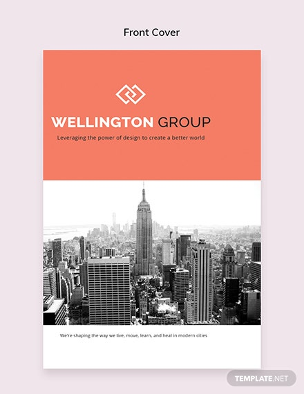 Free Business Catalog Template Front