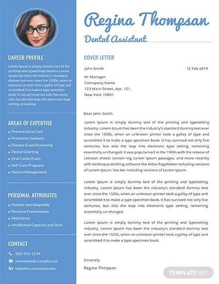 Free Dental Assistant Resume and Cover Letter