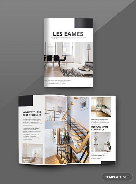 Free Interior Design Catalog Template