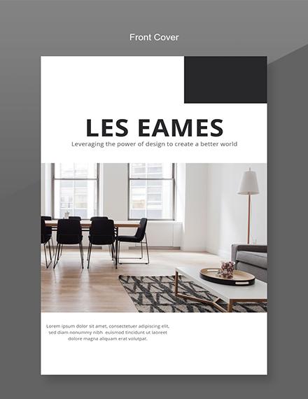 Free Interior Design Catalog Template Front