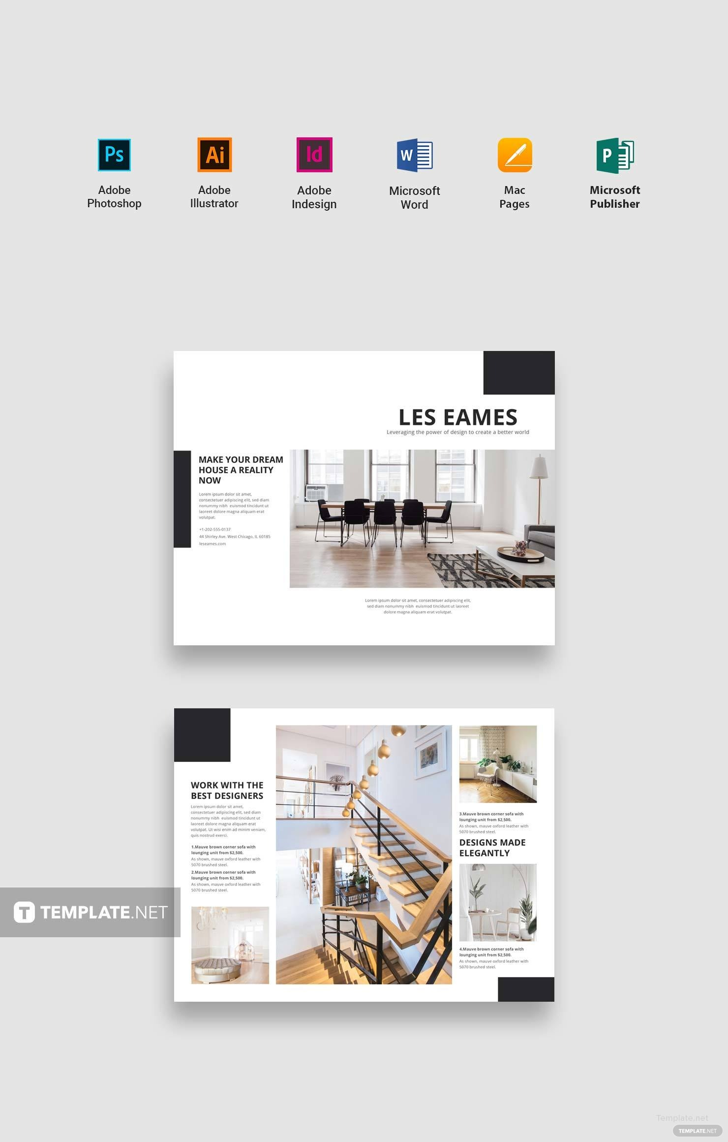 free catalog templates for publisher - free interior design catalog template in adobe photoshop