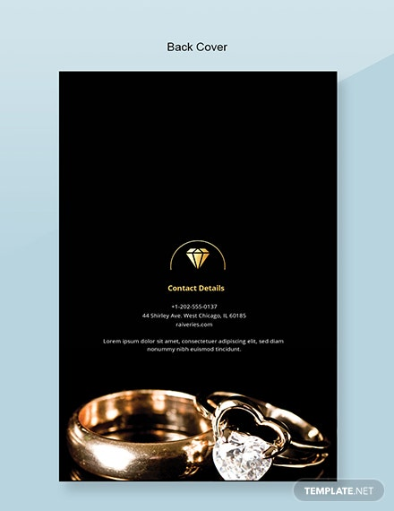 Free Jewelry Catalog Template Back
