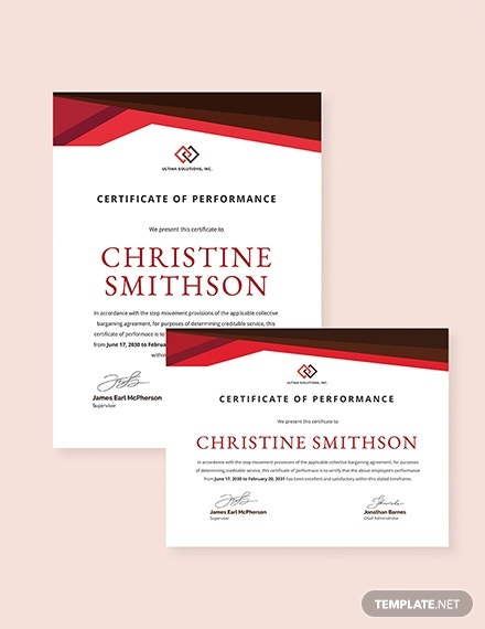 employee performance certificate template 3 1x 4