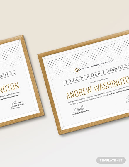 Sample Certificate of Service