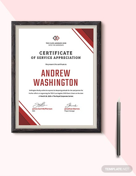 Employment Certificate of Service Download
