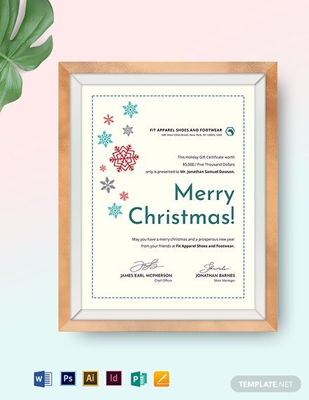 Creative Christmas Gift Certificate Template