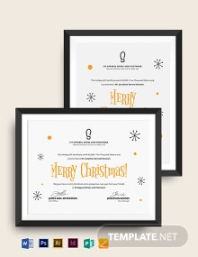 Simple Christmas Gift Certificate Template