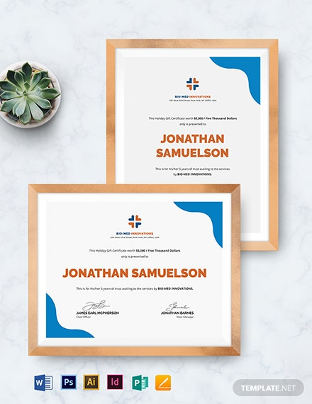 company gift certificate template 1