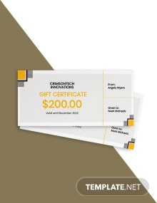 Modern Company Gift Certificate Template
