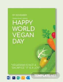 World Vegan Day Greeting Card