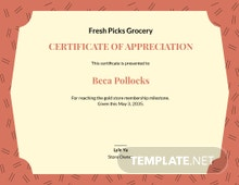 Formal Customer Appreciation Certificate Template