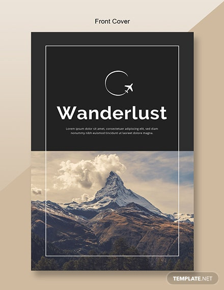 Free Travel Catalog Template Front