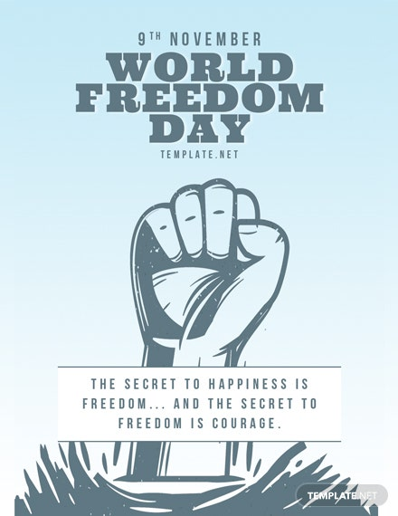 World Freedom Day Card