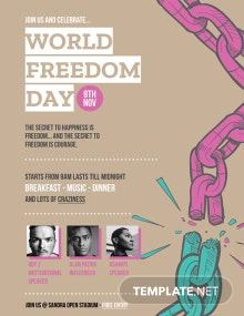 World Freedom Day Poster