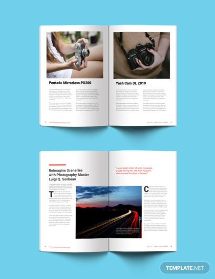 Free Photographer Magazine Template