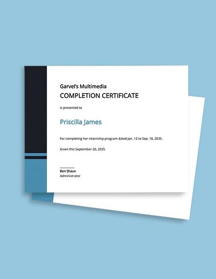Modern Internship Certificate Template