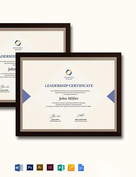 Creative Leadership Certificate Template