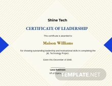 Creative Leadership Certificate Template