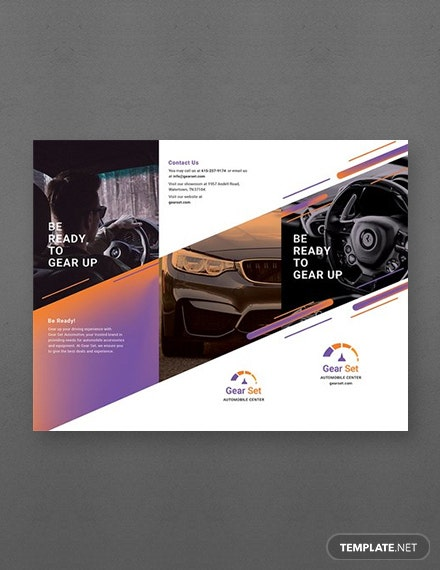 Free Automotive Brochure Template