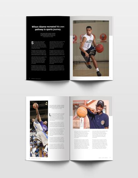 Free Sports Magazine Template