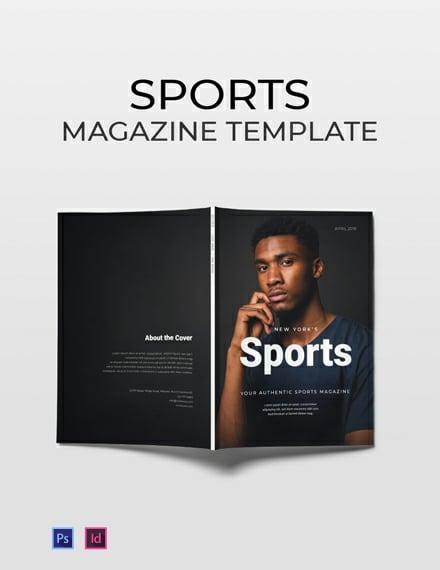 free sports magazine template 440x570 1