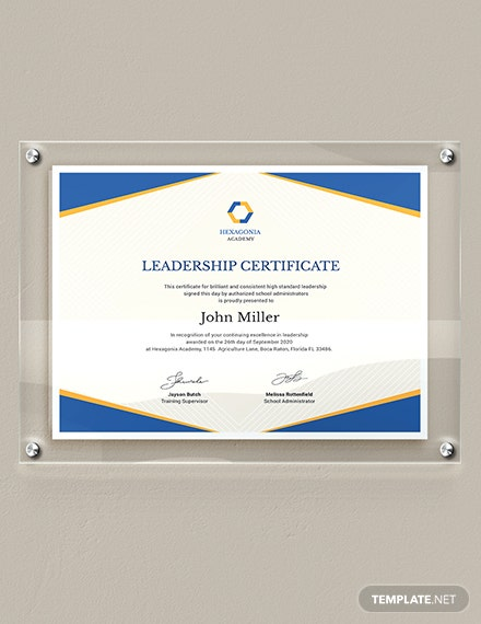 Leadership Certificate Download