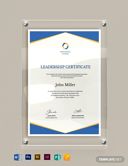 Leadership Certificate Template