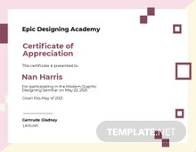 Modern Appreciation Certificate Template