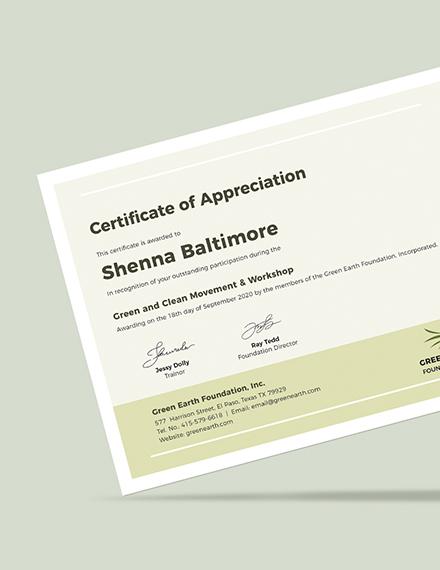 Sample Modern Certificate