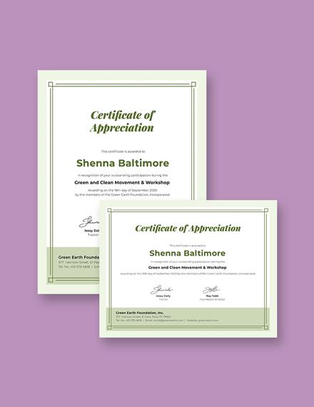 Modern Participation Certificate Template