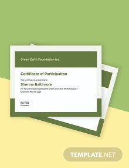 Modern Workshop Certificate Template