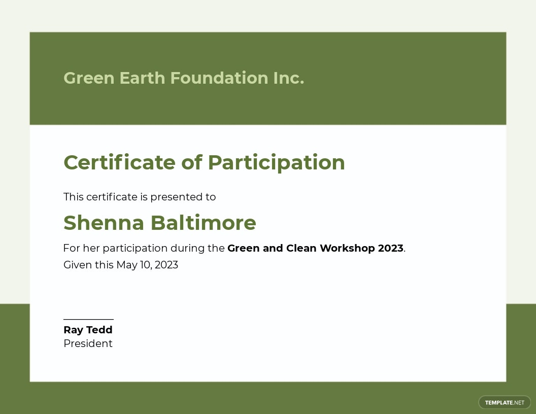 Modern Workshop Certificate Template