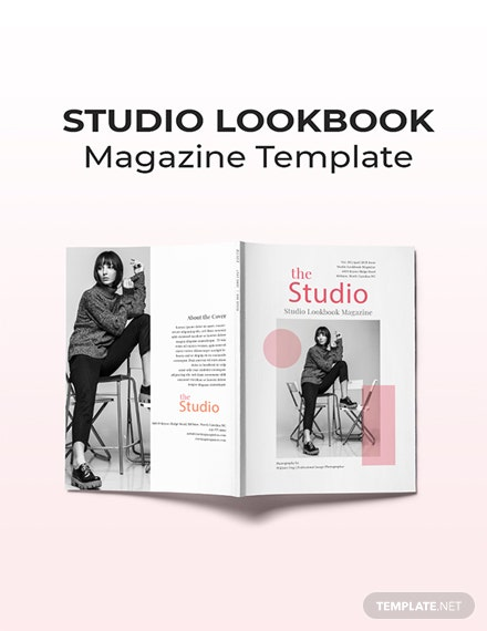 Free Studio Lookbook Magazine Template