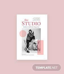 Free Studio Lookbook Magazine Template