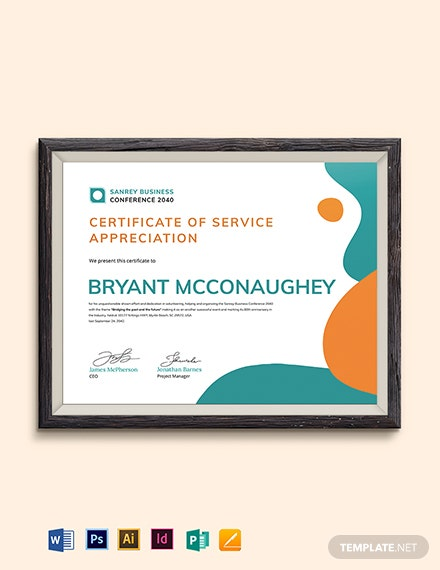 Volunteer Award Certificate Template