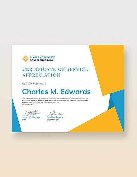 Sample Volunteer Certificate